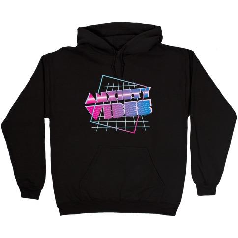 Anxiety Vibes Vaporwave Hooded Sweatshirt