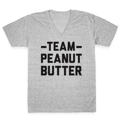 Team Peanut Butter V-Neck Tee Shirt