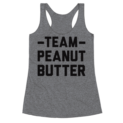 Team Peanut Butter Racerback Tank Top
