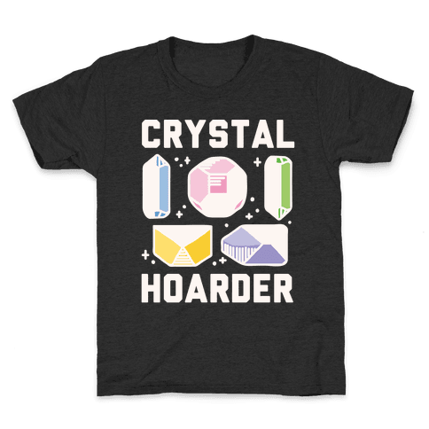 Crystal Hoarder White Print Kids T-Shirt