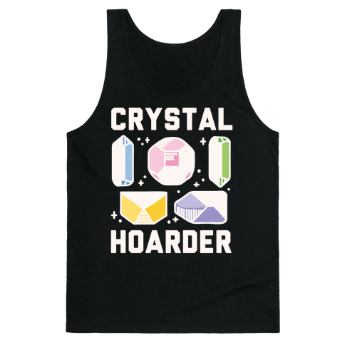 Crystal Hoarder White Print Tank Top