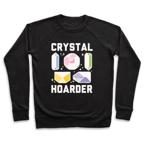 Crystal Hoarder White Print Pullover