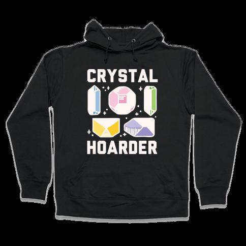 Crystal Hoarder White Print Hooded Sweatshirt