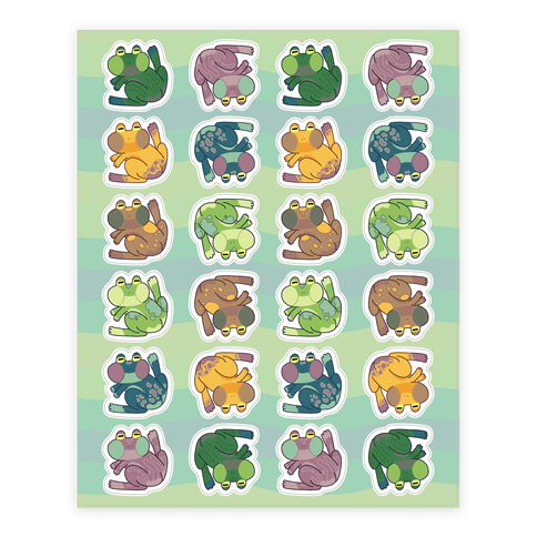 Cool Frogs Sticker and Decal Sheet