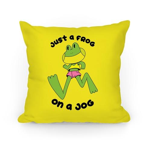 Just a Frog on a Jog Pillow