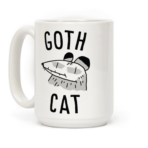 Goth Cat Coffee Mug
