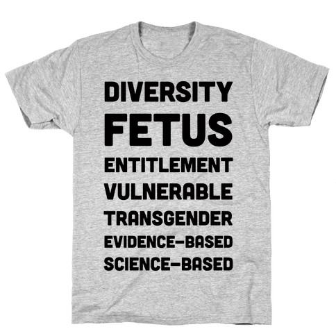 CDC Banned Words Mens T-Shirt