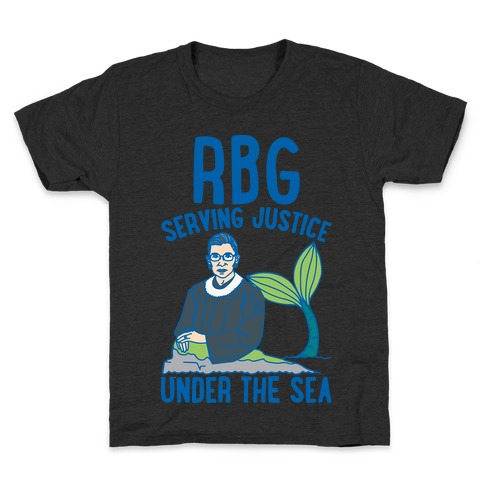 RBG Serving Justice Under The Sea White Print Kids T-Shirt