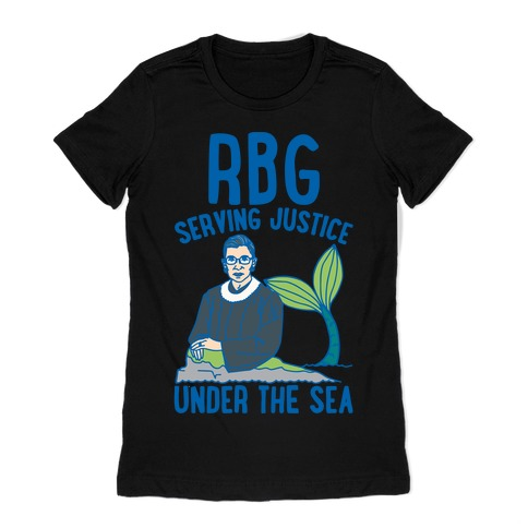 RBG Serving Justice Under The Sea White Print Womens T-Shirt