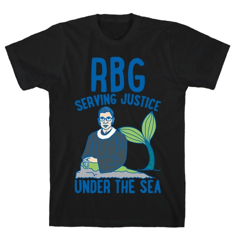 RBG Serving Justice Under The Sea White Print T-Shirt