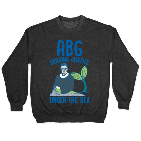 RBG Serving Justice Under The Sea White Print Pullover