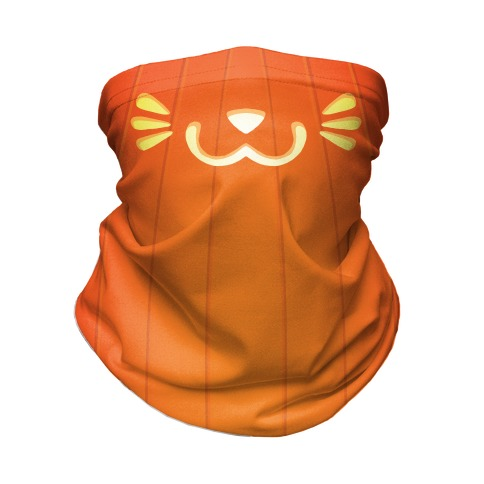 Pumpkin Cat Mouth Neck Gaiter