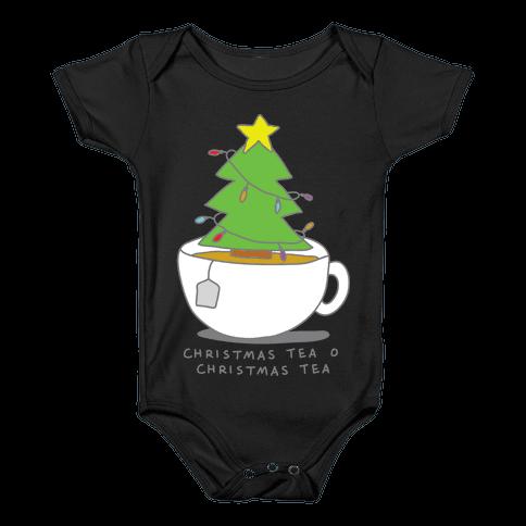 Christmas Tea O Christmas Tea Baby Onesy
