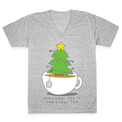 Christmas Tea O Christmas Tea V-Neck Tee Shirt