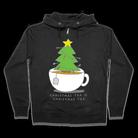 Christmas Tea O Christmas Tea Zip Hoodie
