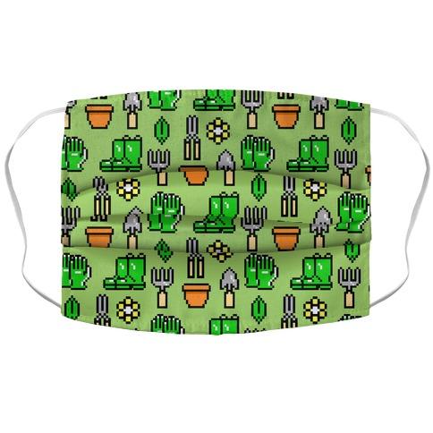 Pixel Gardening Tool Pattern Accordion Face Mask