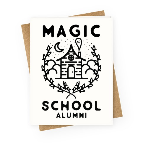Magick School Alumni Greeting Card