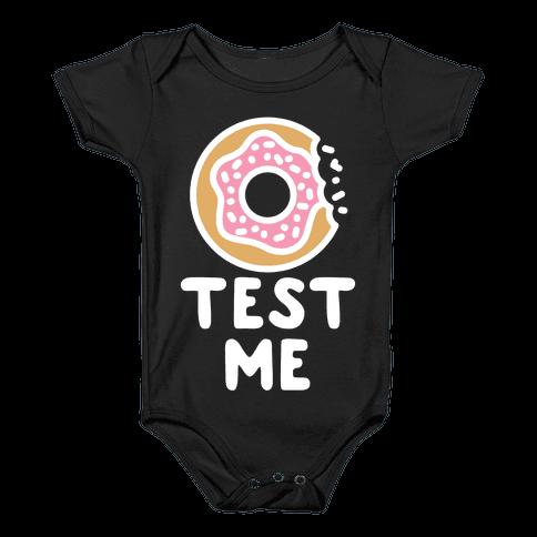 Donut Test Me Baby Onesy