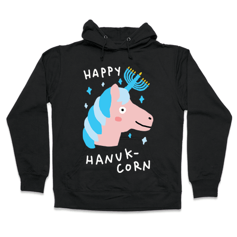 Happy Hanuk-Corn Unicorn Hooded Sweatshirt