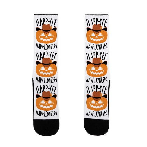 Happ-YEE HAW-loween Sock