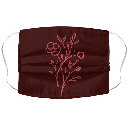 Wildflower Stippled Tattoo Face Mask Cover