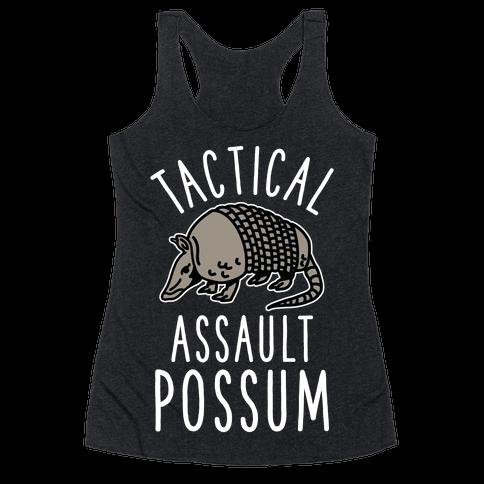 Tactical Assault Possum Racerback Tank Top