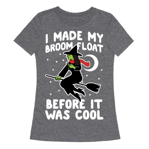 Broom Challenge Hipster Witch Womens T-Shirt