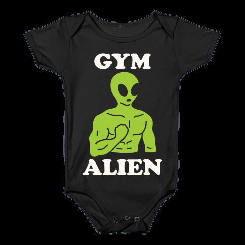 Gym Alien Baby Onesy