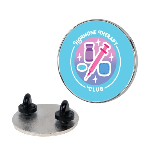 Hormone Therapy Club Patch Pin