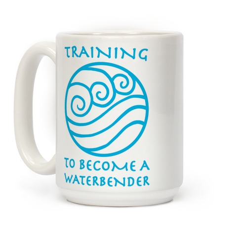 Training to Become A Waterbender Coffee Mug