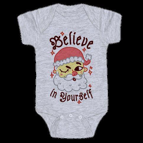 Believe in Yourself Santa Baby Onesy