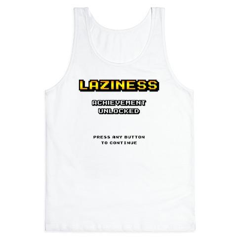 Laziness Achievement Unlocked Tank Top
