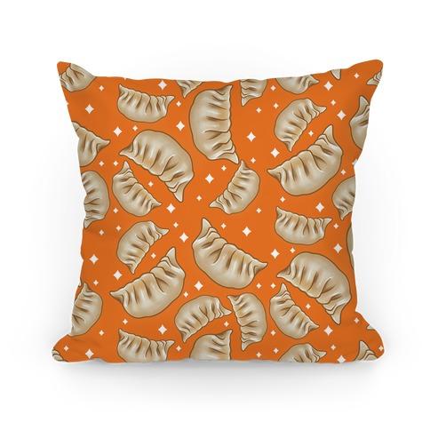 Dumplings Pattern Orange Pillow