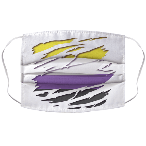Ripped Shirt: Non-Binary Pride Face Mask Cover