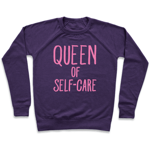 Queen of Self-Care White Print Pullover