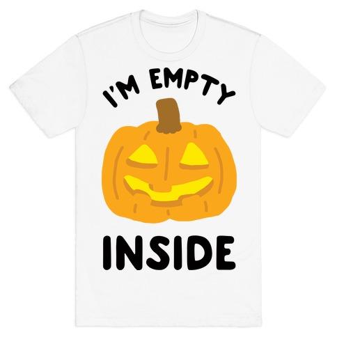 I'm Empty Inside Pumpkin Mens T-Shirt