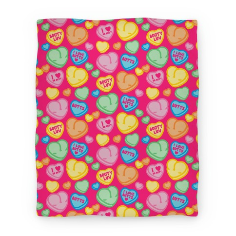 Candy Heart Butts Blanket
