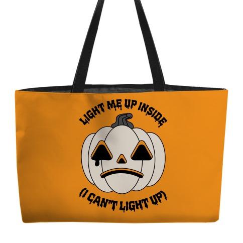 Light Me Up Inside Pumpkin Weekender Tote