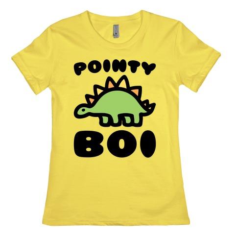 Pointy Boi Stegosaurus Womens T-Shirt