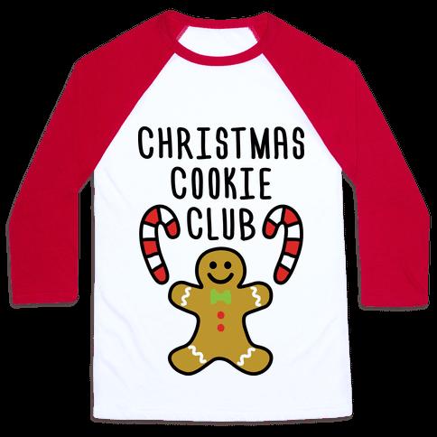 Christmas Cookie Club Baseball Tee
