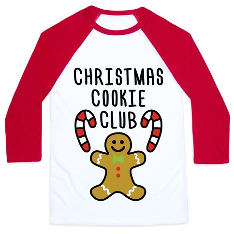 Christmas Cookie Club Baseball Tee