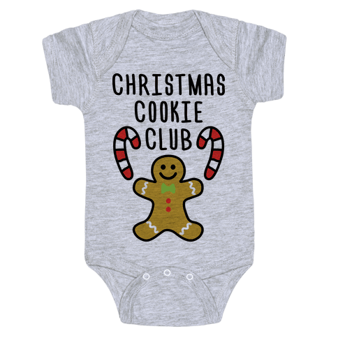 Christmas Cookie Club Baby Onesy