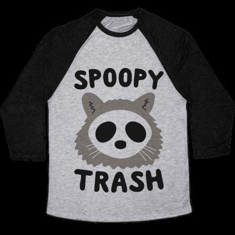 Spoopy Trash Raccoon Baseball Tee