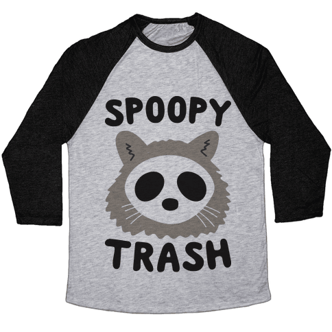 Spoopy Trash Raccoon Baseball Tee