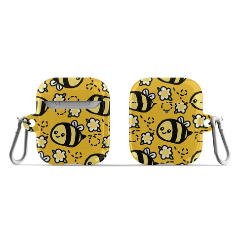 Cute Bumble Bee and Flower Pattern AirPod Case