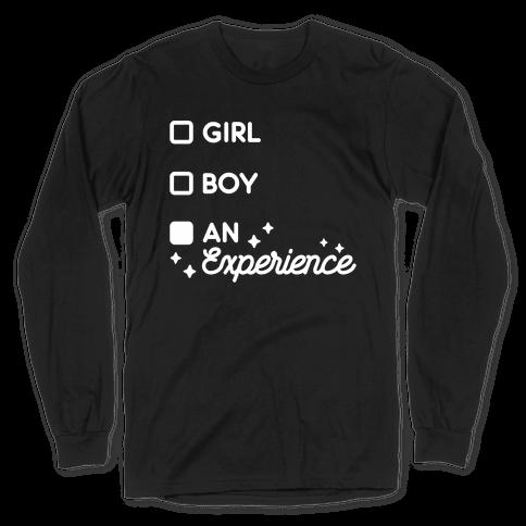 Girl, Boy, An Experience Checklist Long Sleeve T-Shirt