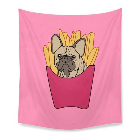 French Fry French Bulldog Tapestry