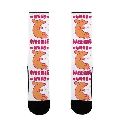 Weeb Weenie Dachshund Sock
