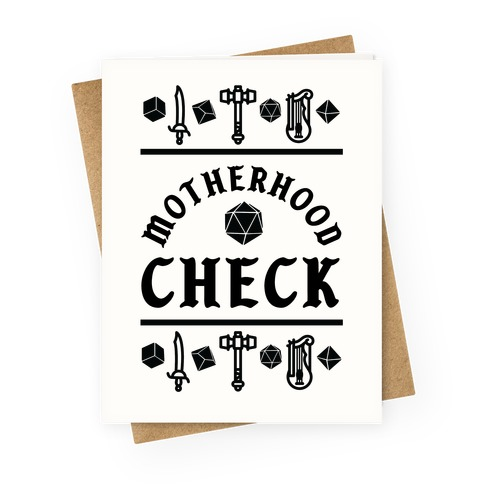 Motherhood Check Greeting Card