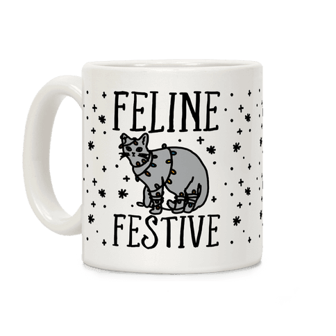 Feline Festive Coffee Mug